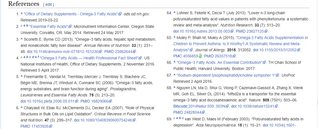 Wikipedia references for content creation